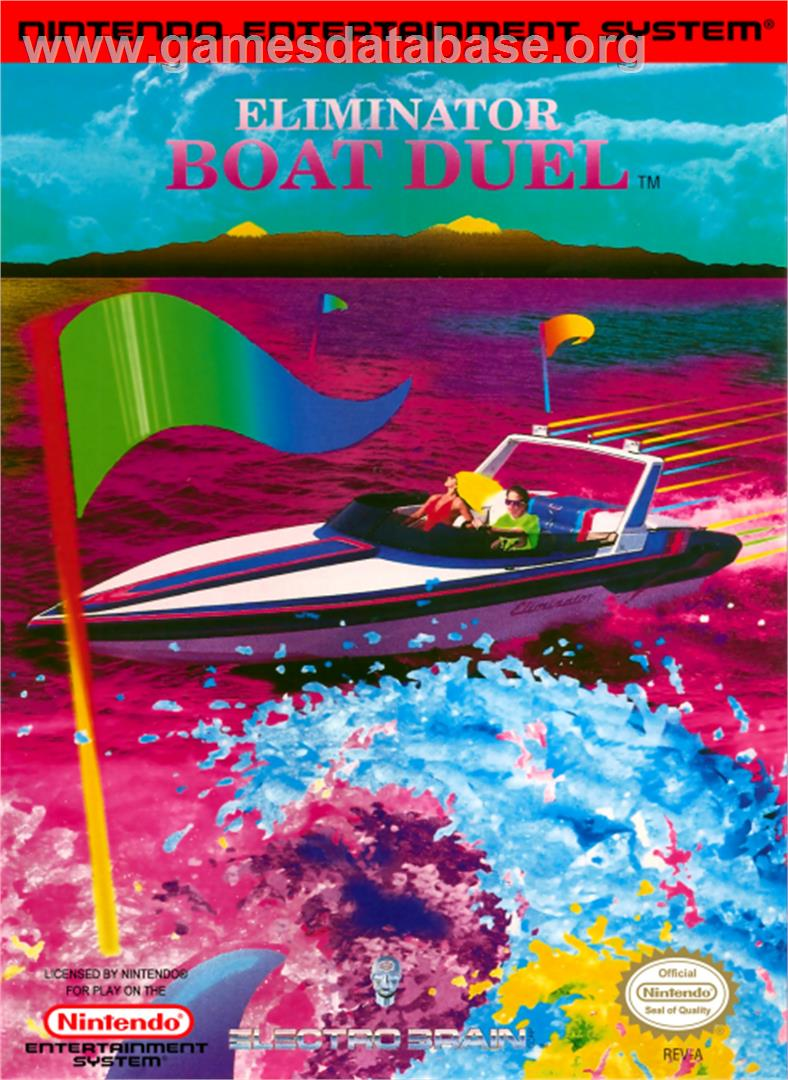 Eliminator Boat Duel - Nintendo NES - Artwork - Box