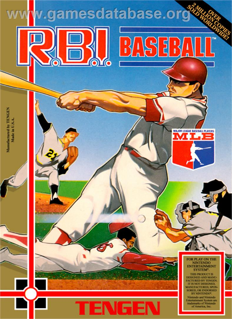 RBI Baseball - Nintendo NES - Artwork - Box