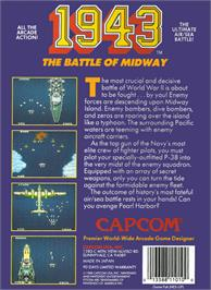 Box back cover for 1943: The Battle of Midway on the Nintendo NES.