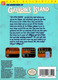 Box back cover for Adventures of Gilligan's Island on the Nintendo NES.