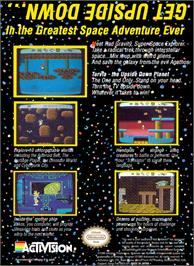 Box back cover for Adventures of Rad Gravity on the Nintendo NES.