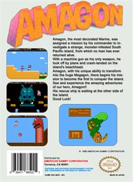Box back cover for Amagon on the Nintendo NES.