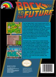 Box back cover for Back to the Future on the Nintendo NES.