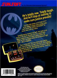 Box back cover for Batman: The Video Game on the Nintendo NES.