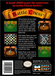 Box back cover for Battle Chess on the Nintendo NES.