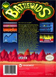 Box back cover for Battle Toads on the Nintendo NES.