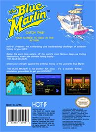 Box back cover for Blue Marlin on the Nintendo NES.