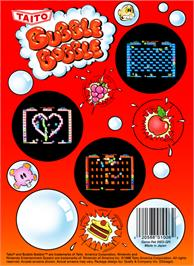 Box back cover for Bubble Bobble on the Nintendo NES.