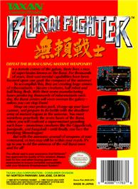 Box back cover for Burai Fighter on the Nintendo NES.