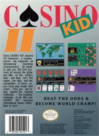 Box back cover for Casino Kid 2 on the Nintendo NES.