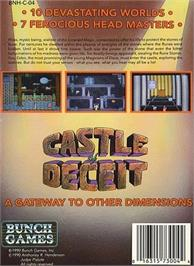 Box back cover for Castle of Deceit on the Nintendo NES.