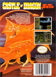Box back cover for Castle of Dragon on the Nintendo NES.