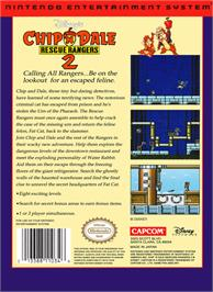 Box back cover for Chip 'N Dale Rescue Rangers 2 on the Nintendo NES.