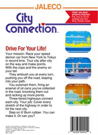 Box back cover for City Connection on the Nintendo NES.