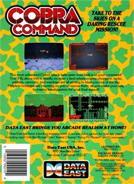 Box back cover for Cobra-Command on the Nintendo NES.