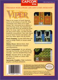 Box back cover for Code Name: Viper on the Nintendo NES.