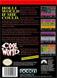Box back cover for Cool World on the Nintendo NES.