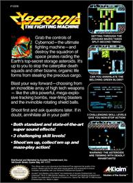 Box back cover for Cybernoid: The Fighting Machine on the Nintendo NES.