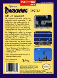 Box back cover for Darkwing Duck on the Nintendo NES.