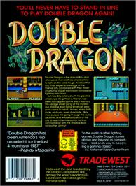 Box back cover for Double Dragon on the Nintendo NES.