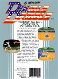 Box back cover for Double Dribble on the Nintendo NES.