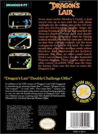 Box back cover for Dragon's Lair on the Nintendo NES.