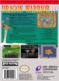 Box back cover for Dragon Warrior 4 on the Nintendo NES.