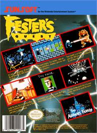 Box back cover for Fester's Quest on the Nintendo NES.