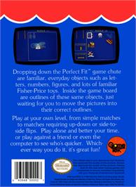 Box back cover for Fisher-Price: Perfect Fit on the Nintendo NES.