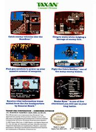 Box back cover for G.I. Joe: A Real American Hero on the Nintendo NES.