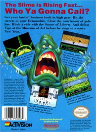 Box back cover for Ghostbusters 2 on the Nintendo NES.
