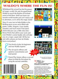 Box back cover for Great Waldo Search on the Nintendo NES.