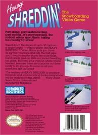 Box back cover for Heavy Shreddin' on the Nintendo NES.