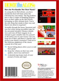 Box back cover for Home Alone on the Nintendo NES.
