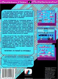 Box back cover for Impossible Mission 2 on the Nintendo NES.