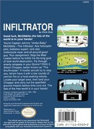 Box back cover for Infiltrator 2 on the Nintendo NES.