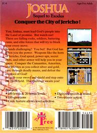 Box back cover for Joshua & the Battle of Jericho on the Nintendo NES.
