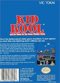 Box back cover for Kid Kool and the Quest for the Seven Wonder Herbs on the Nintendo NES.