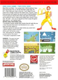 Box back cover for M.C. Kids on the Nintendo NES.