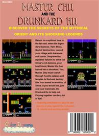 Box back cover for Master Chu And The Drunkard Hu on the Nintendo NES.