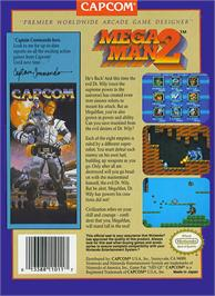 Box back cover for Mega Man 2 on the Nintendo NES.