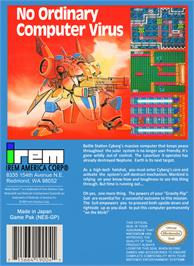 Box back cover for Metal Storm on the Nintendo NES.