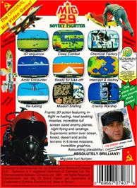 Box back cover for Mig-29 Soviet Fighter on the Nintendo NES.