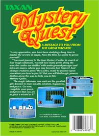 Box back cover for Mystery Quest on the Nintendo NES.