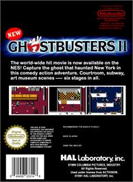 Box back cover for New Ghostbusters 2 on the Nintendo NES.