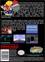 Box back cover for Nintendo World Championships 1990 on the Nintendo NES.