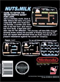 Box back cover for Nuts & Milk on the Nintendo NES.