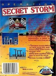 Box back cover for Operation Secret Storm on the Nintendo NES.