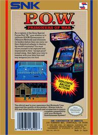 Box back cover for P.O.W. - Prisoners of War on the Nintendo NES.