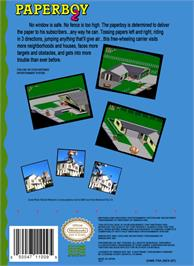 Box back cover for Paperboy 2 on the Nintendo NES.